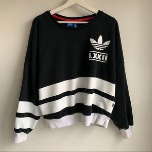 Adidas 72 striped oversize sweatshirts EUC